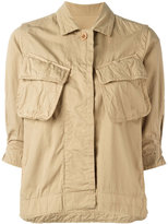 Sacai crinkled military jacket - women - Cotton - 1