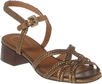 See by Chloe Braided Strap Leather Sandal