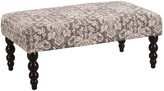 Linon Mia Gray Damask Bench