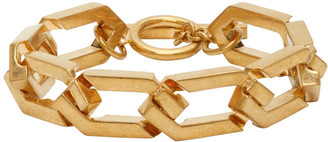 Saint Laurent Gold Hexagonal Bracelet