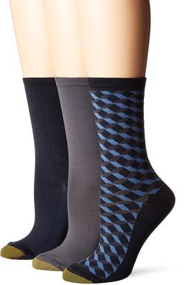 Gold Toe Women's Ultra Soft Geo Crew Socks 3 Pairs