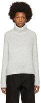 Moncler White Wool & Alpaca Turtleneck