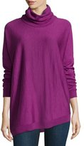 Eileen Fisher Merino Turtleneck Asymmetric Top, Petite