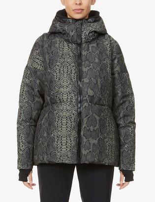 Varley Dorothy snakeskin-print shell-down jacket