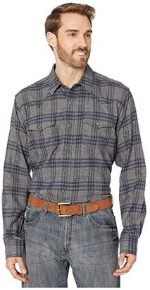 Ariat Foggie Retro Snap Shirt (Steel) Men's Long Sleeve Button Up