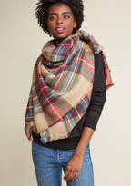 Willamette Wanderings Plaid Blanket Scarf in Classic by ModCloth