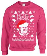 Allntrends Adult Crewneck Sweatshirt Ho Ho Hodor Ugly Christmas Sweater (M, )