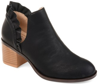 Journee Collection Lennie Ruffle Trim Ankle Bootie