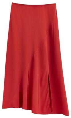 Cuyana Silk Asymmetrical Skirt