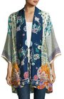 johnny was mixedprint twill kimono jacket multi