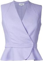 Carven wrap detail sleeveless shirt - women - Polyester - 36