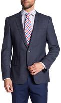 HUGO BOSS Hutson Two-Button Notch Lapel Trim Fit Wool Blazer