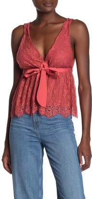 Free People Chante Lace Tie Tank