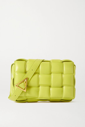 Bottega Veneta Cassette Padded Intrecciato Leather Shoulder Bag - Green