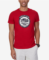 Nautica Men's Big & Tall Sail Graphic-Print Logo T-Shirt