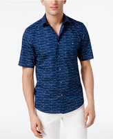 Alfani Men's James Geometric-Print Cotton Shirt, Only at Macy's