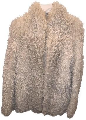 Maison Margiela Ecru Shearling Coat for Women