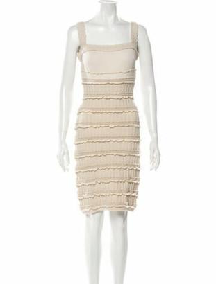 Alaia Virgin Wool Knee-Length Dress Wool