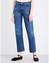 ALEXACHUNG Boyfriend-fit cropped high-rise jeans
