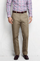 Classic Men's Pre-hemmed Plain Front Straight Fit No Iron Chino Pants-Wrought Iron