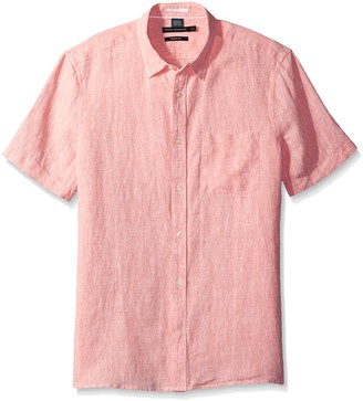 French Connection Men's Linen Chambray Regular