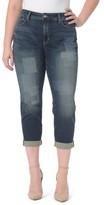 NYDJ Plus Size Women's Shadow Patch Stretch Boyfriend Jeans