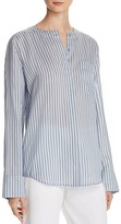 Vince Menswear Stripe Silk Top