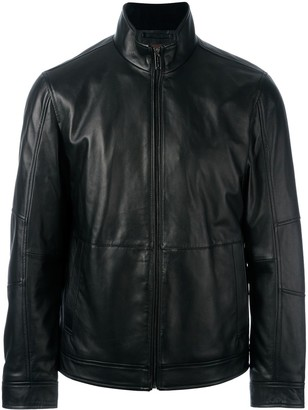 Michael Kors zipped leather jacket