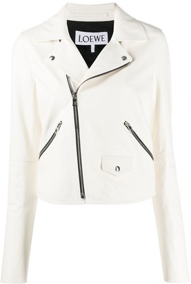 Loewe Zip Detail Leather Jacket
