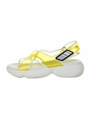 Prada Slingback Sandals Yellow