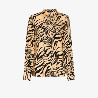 USISI SISTER Jacquetta tiger print shirt