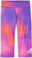 adidas Printed Capri Tight (Toddler/Kid) - Purple Print - 4T