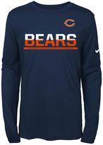 Nike Boys 8-20 Chicago Bears Practice Dri-FIT Long-Sleeve Tee