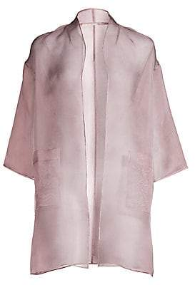 Eileen Fisher Women's Washed Silk Organza Kimono Jacket
