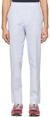 Harmony Blue Seersucker Striped Paolo Trousers