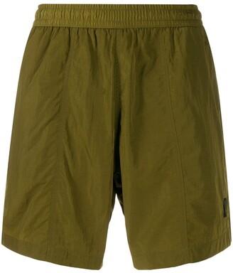 Ami Paris elastic waist long swim shorts