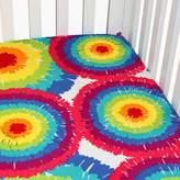 One Grace Place 10-34010TD Terrific Tie Dye-Tie Dye Crib Sheet
