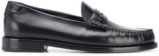 Saint Laurent Monogram Leather Loafers