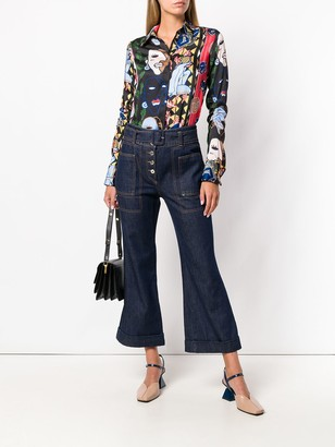 Carven High-Waist Cropped Jeans