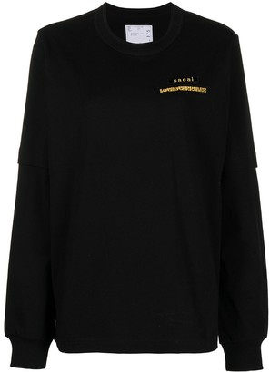 Sacai long-sleeve logo T-shirt