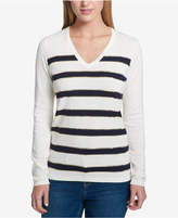 Tommy Hilfiger Cotton Sequin-Stripe Top, Created for Macy's