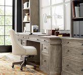 Pottery Barn Livingston Large Desk, Gray