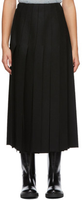 Prada Black Fringed Mid-Length Skirt