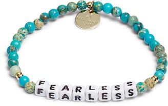 Little Words Project Fearless Beaded Stretch Bracelet