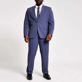 River Island Big and Tall blue suit trousers