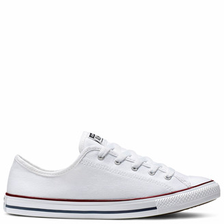 Converse Chuck Taylor All Star Dainty Basic Canvas Ox Trainers - White/Red/Blue