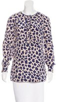 Tory Burch Leopard Print Silk Top