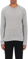 James Perse Men's Thermal-Stitched Cashmere Raglan Sweater-GREY