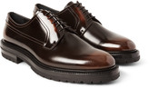 Burberry - Lug-soled Polished-leather Derby Shoes