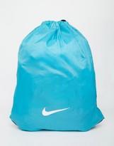 Nike Swoosh Drawstring Backpack In Blue Ba2735-418